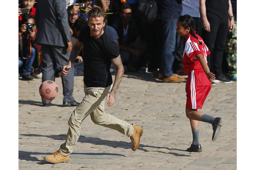 David Beckham in Palladium